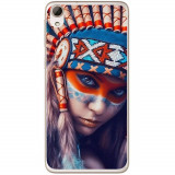 Husă Native Indian Girl HTC Desire 826, Alta, Silicon, Husa