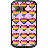Husă Pixel Hearts Samsung Galaxy Young 2 G130, Alta, Silicon, Husa