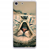 Husă Hipster Cat Sony Xperia M5, Silicon, Husa