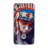 Husă Native Indian Girl HUAWEI Ascend Nova, Alta, Silicon, Husa