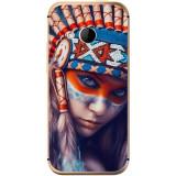 Husă Native Indian Girl HTC One Mini 2, Alta, Silicon, Husa