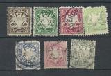 BAYERN 1888/1900 – STEMA, serie stampilata DEPARAIATA, J44