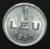 1 leu 1951 15 aUNC