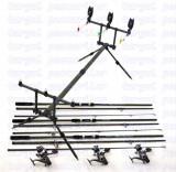 Kit Crap 3 lansete 3,6m Carp 3 mulinete KDL50 LONG CAST 9 rulmenti rod pod full