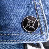 Insigna metalica de rever Metallica Shuriken (Rock, Heavy, Thrash, Speed, Death)