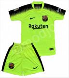 Compleu Echipament Fotbal FC BARCELONA DEMBELE MESSI MODEL 2018  copii 4-6 ani, YXS, Set echipament fotbal