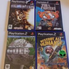 Lot 4 jocuri: Fur Fighter + Kill Switch + Destroy Humans - PS2 [Second hand], Sporturi, 3+, Multiplayer