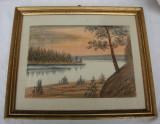 Cumpara ieftin Pictura pastel pe hartie pictor strain neidentificat, Peisaje, Realism