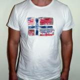 Tricouri de Firma - Alb / Bleumarin Model Nou !!!, L, M, XL, XXL, Maneca scurta