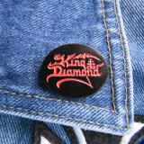Insigna metalica de rever King Diamond logo (Rock, Heavy, Thrash, Speed, Death)