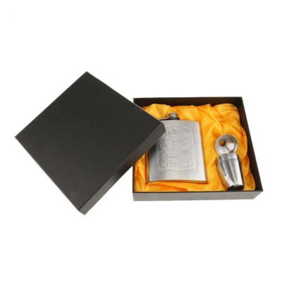 Set cadou Sticla din inox de buzunar Jack Daniel's cu pahare si palnie 200 ml foto