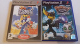 Lot 2 jocuri: Sonic Heroes + Ratchet Clanck 2  - PS2 [Second hand], Sporturi, 3+, Multiplayer