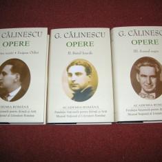 George Calinescu - Opere (vol 1, 2, 3) - (Academia Romana) Editie de lux, 2018