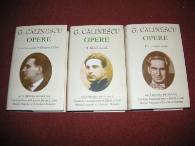 George Calinescu - Opere (vol 1, 2, 3) - (Academia Romana) Editie de lux foto