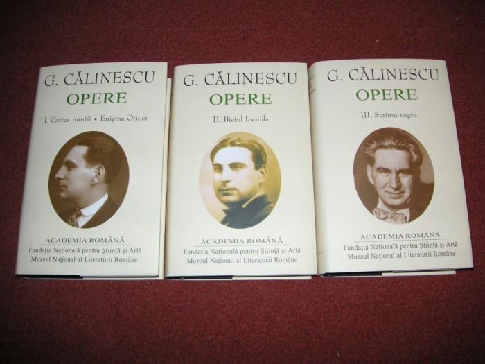 George Calinescu - Opere (vol 1, 2, 3) - (Academia Romana) Editie de lux
