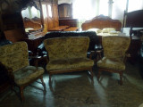 Canapea 2 locuri + 2 fotolii stejar cu plus