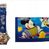 Set ceas de mana si portofel Mickey Mouse