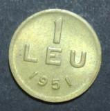 1 leu 1951 1 UNC CUPRU