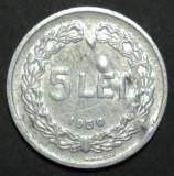5 lei 1950 15 aUNC EROARE