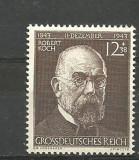 Germania (REICH)1943 - MEDICINA, ANIVERSARE ROBERT KOCH, timbru cu SARNIERA J40