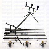 Kit Crap 3 lansete 3,6m SIRENA Carp  3 mulinete KT5000A 9 rulmenti rod pod full