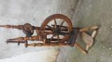 Set Masina(roată) de tors (cujeica+piepteni+sucală+fuse)