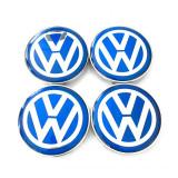 Set Capacele Jante Volkswagen Albastru 68MM