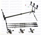 Kit 3 TELECARP 3,6m DEXTER  3 mulinete KDL50 LONG CAST  9 rulmenti  rod pod full