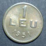 1 leu 1951 2 UNC CUPRU