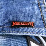 Insigna metalica de rever Megadeth logo (Rock, Heavy, Thrash, Speed, Death)