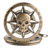 Ceas de buzunar  Vintige Steampunk pirate SKULL