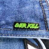 Insigna metalica de rever Overkill logo (Rock, Heavy, Thrash, Speed, Death)