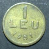 1 leu 1951 20 XF CUPRU