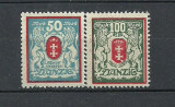 DANZIG 1922 – STEMA , serie nestampilata, COTA MICHEL 22 EURO, J45, Nestampilat