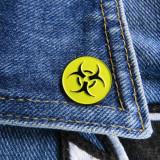 Insigna metalica de rever Biohazard logo (Rock, Heavy, Thrash, Speed, Death)