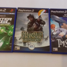 Lot 3 jocuri: Medal of Honor + Tom Clancy + Time Splitters  - PS2 [Second hand], Shooting, 3+, Multiplayer