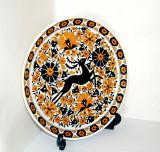 Farfurie perete, ceramica cloisonne, hand made - Cerb - Lindos Keramik, Grecia