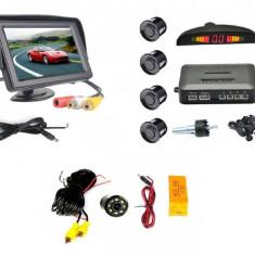 Pachet siguranta - Monitor 4.3inch ,Camera mers inapoi si Senzori parcare spate
