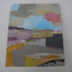 Impresionanta pictura abstracta semnata si datata 2004, Nonfigurativ, Tempera, Abstract