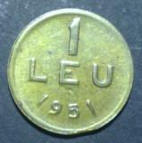 1 leu 1951 19 aUNC CUPRU EROARE
