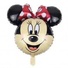 Balon Folie  Cap mare Figurina Minny Mouse rosu   - 66x63, Disney