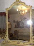 Oglinda veche,stil baroc venetian, cu patina, 1,41m inaltime, 1900 - 1949