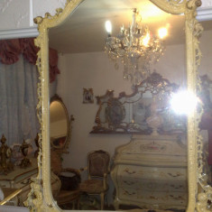 oglinda veche,stil baroc venetian, cu patina, 1,41m inaltime