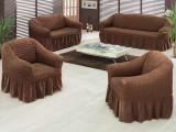 Set huse canapea si fotolii 3.1.1 din bumbac MARO