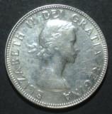 Canada 25 cents 1953 Argint, America de Nord