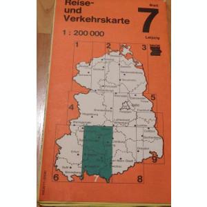 Harta Leipzig Reise - und Verkehrskarte DDR Nr. 7  In germana