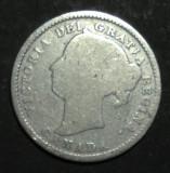 Canada 10 cents 1887 Argint, America de Nord