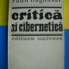 HOPCT RADU BAGDAZAR /CRITICA SI CIBERNETICA 1983 - 404    PAGINI