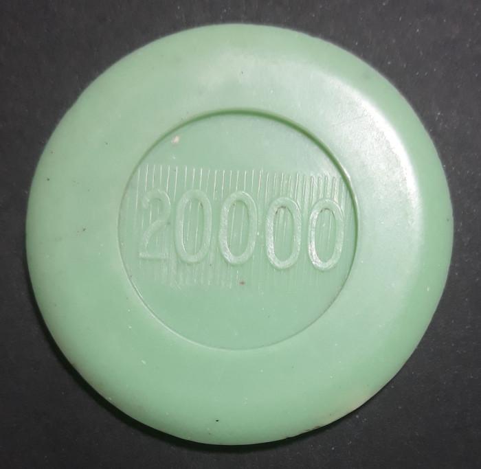 A4418 Jeton Casino Cazinoul Sinaia 20000 Verde