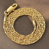 Lantisor unisex placat cu aur de 9k, model rasucit